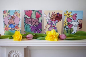 Waiting for the Easter Bunny Card Set