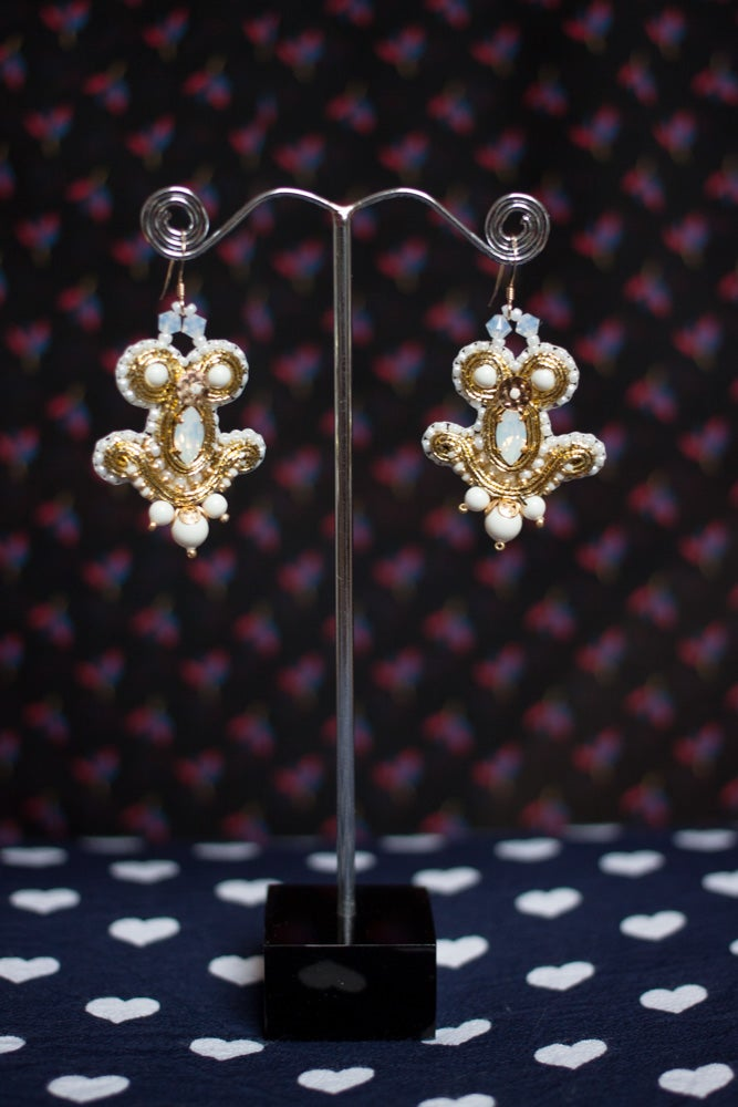 Image of Snow Magic - Miracle Earrings - Metal edition