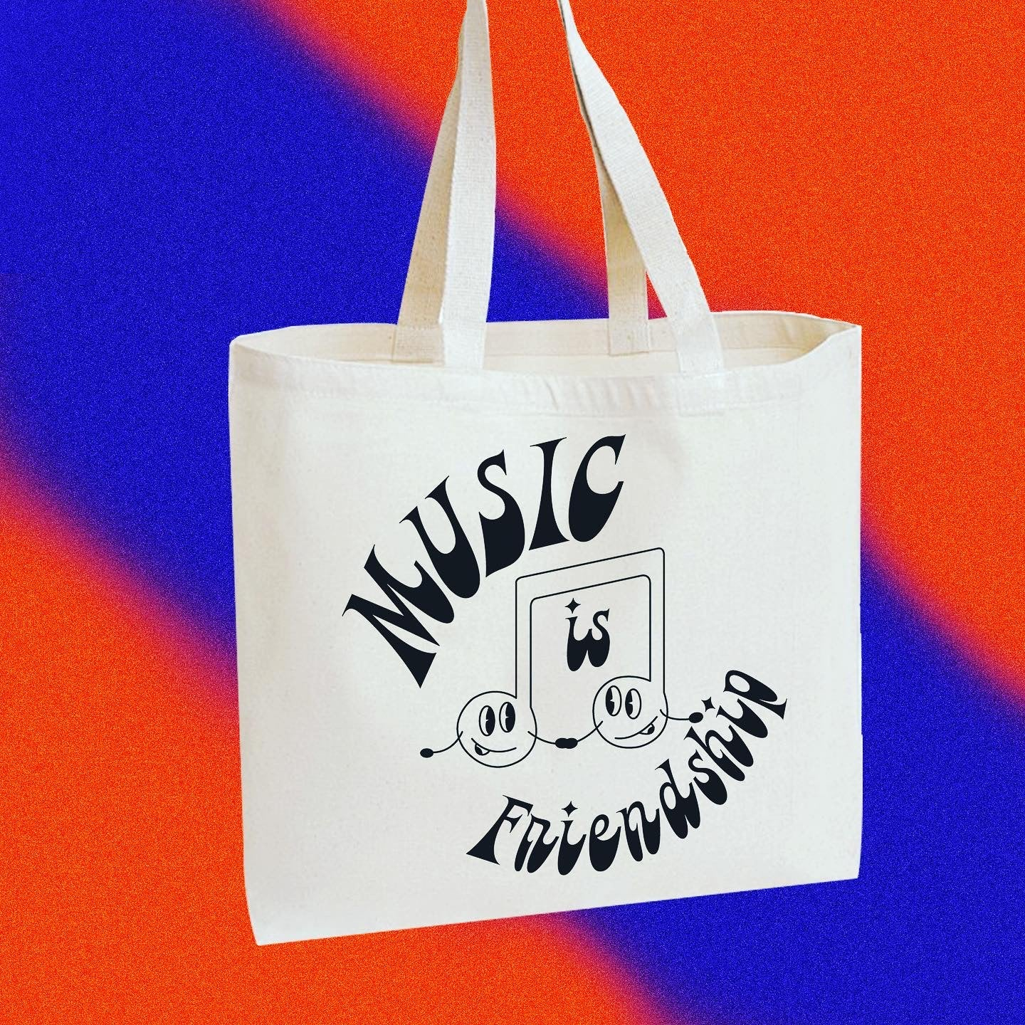"""""""Music is Friendship"""" totes"""