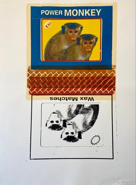 Image of Power Monkey Wax Matches (misprint, monoprint) by Charlie Evaristo-Boyce