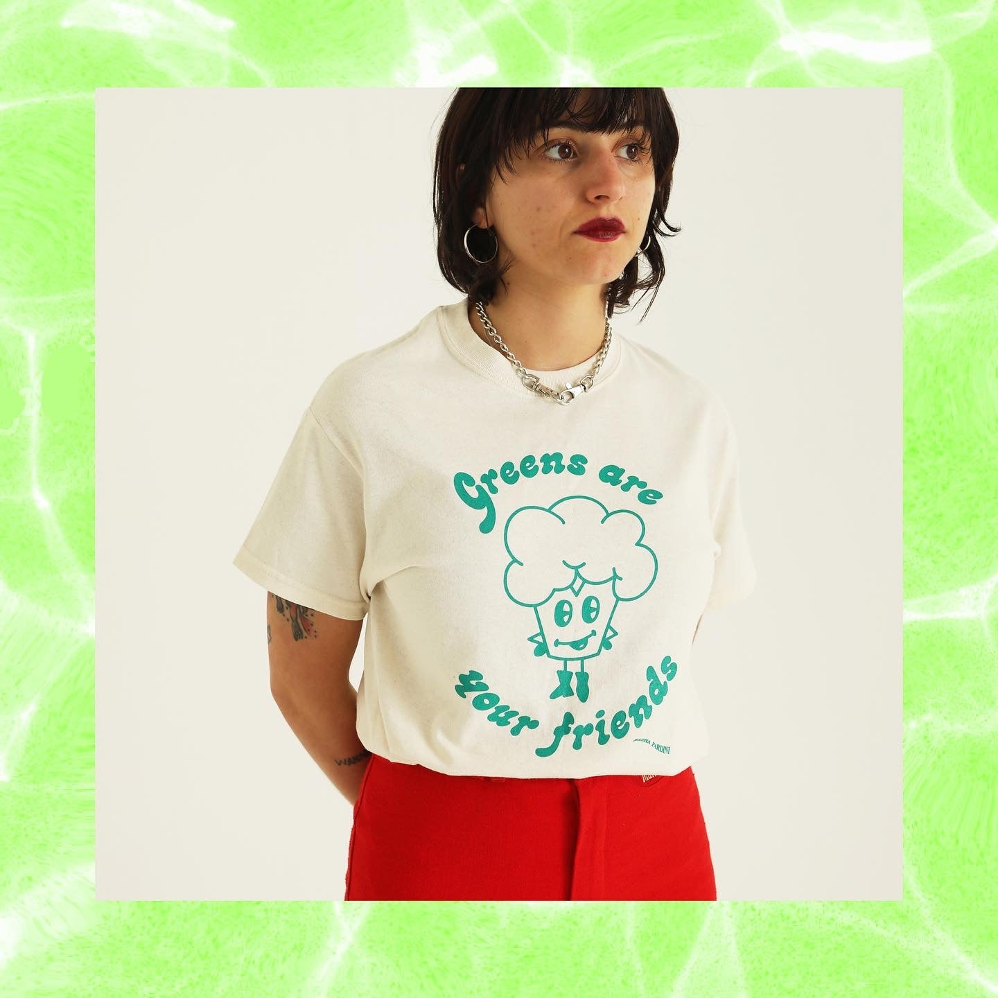 """Greens Are Your Friends"" t-shirt design"