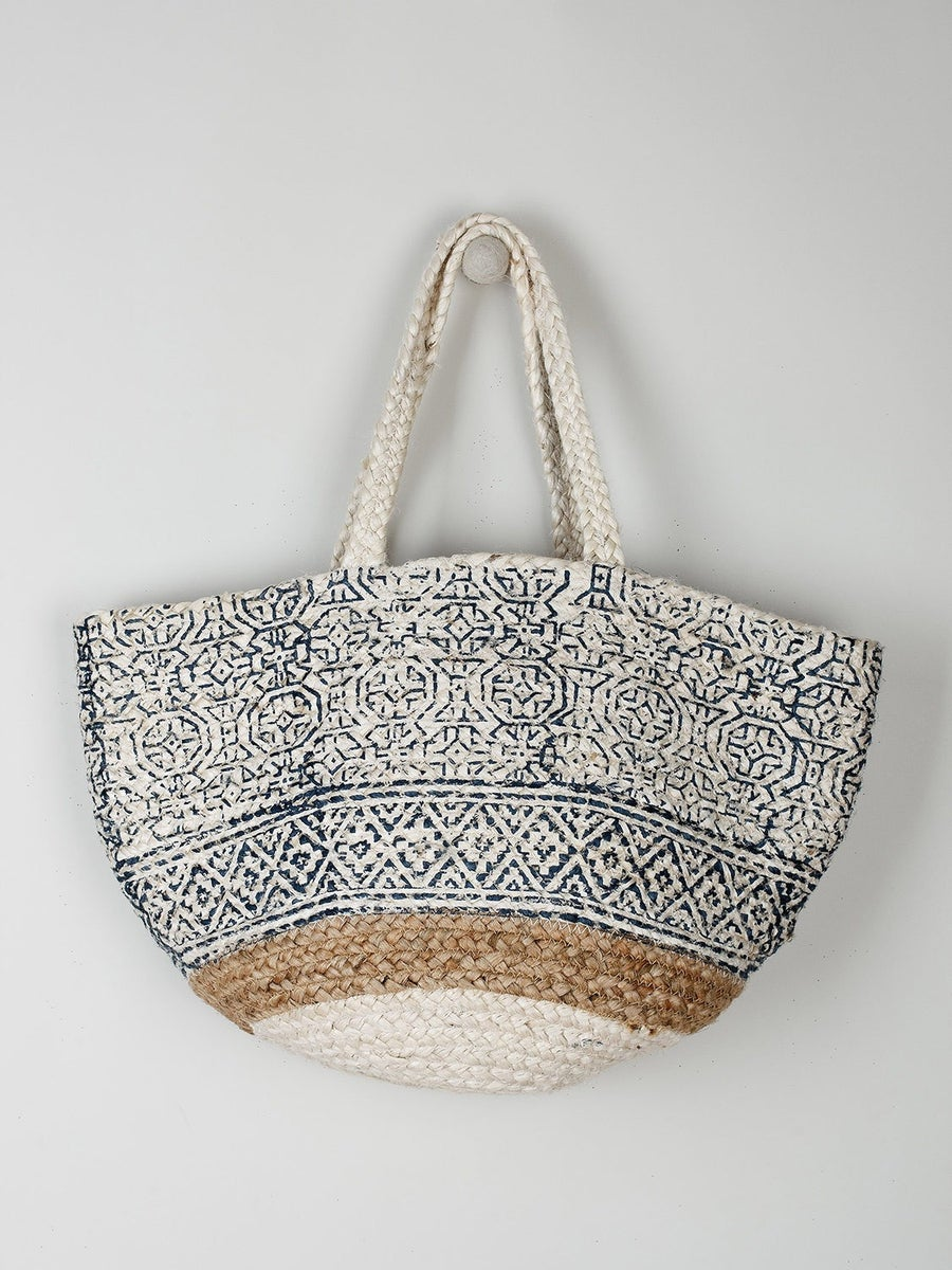 Image of Sac block print  jute