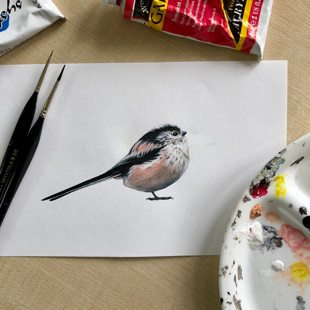 Image of NEW! Tilly the Long tailed tit ~ Wall sticker.