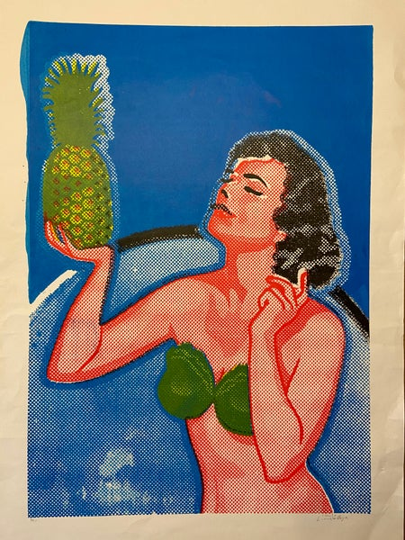 Image of Girl With Pineapple (2015) by Charlie Evaristo-Boyce