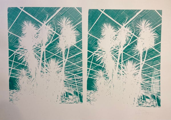 Image of Double Palm Print (Monoprint) by Charlie Evaristo-Boyce