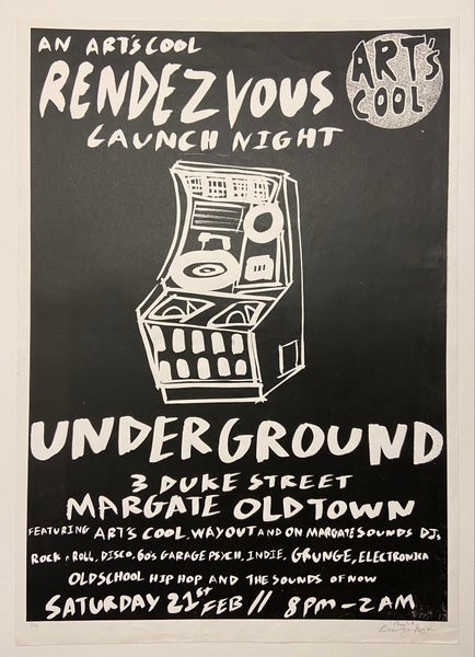 Image of Underground poster by Charlie Evaristo-Boyce