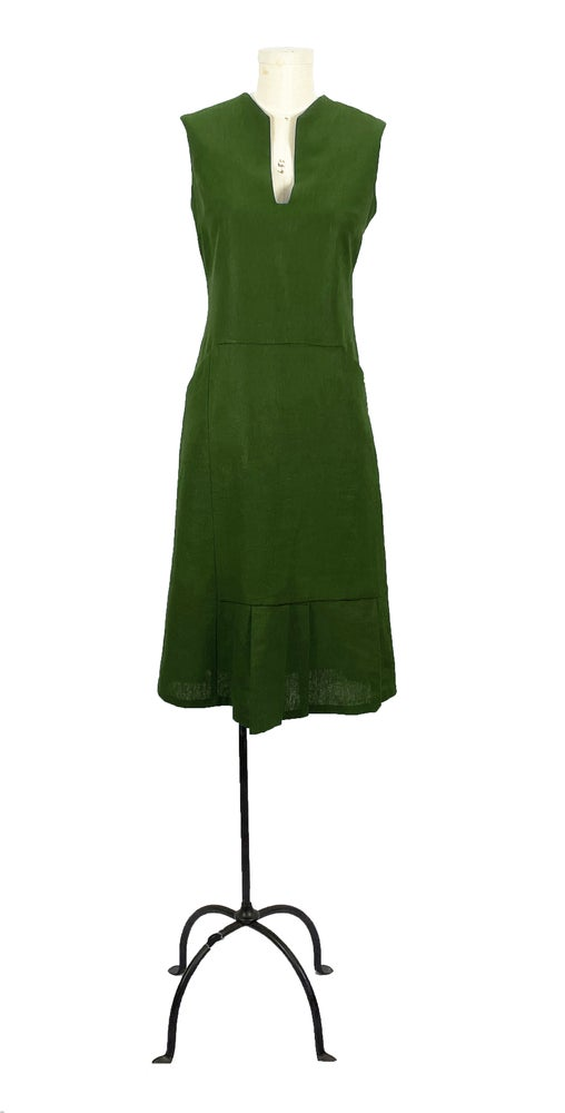 Image of harding dress olive