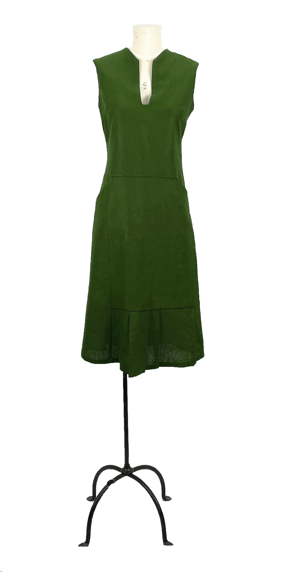 Image of harding dress olive