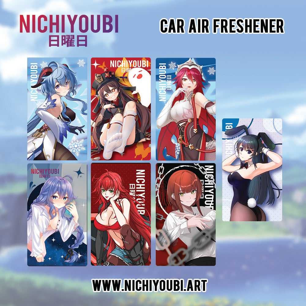 Image of [Car Air Freshener] Genshin Impact - Makima - Mai Bunny - Rias Race Queen - Roxy
