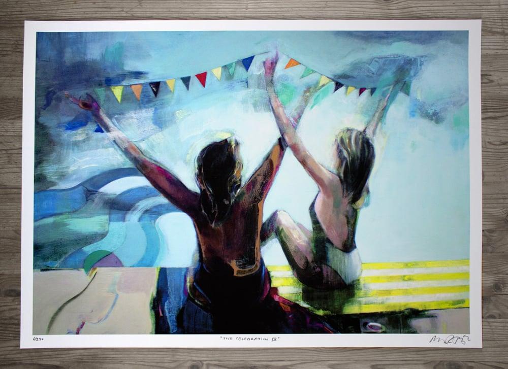 "Image of Artprint / kunsttryk / ""The celebration IV"" / 50x70 cm"