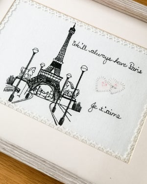 Image of Custom Personalised Stitched Picture Portrait Deposit
