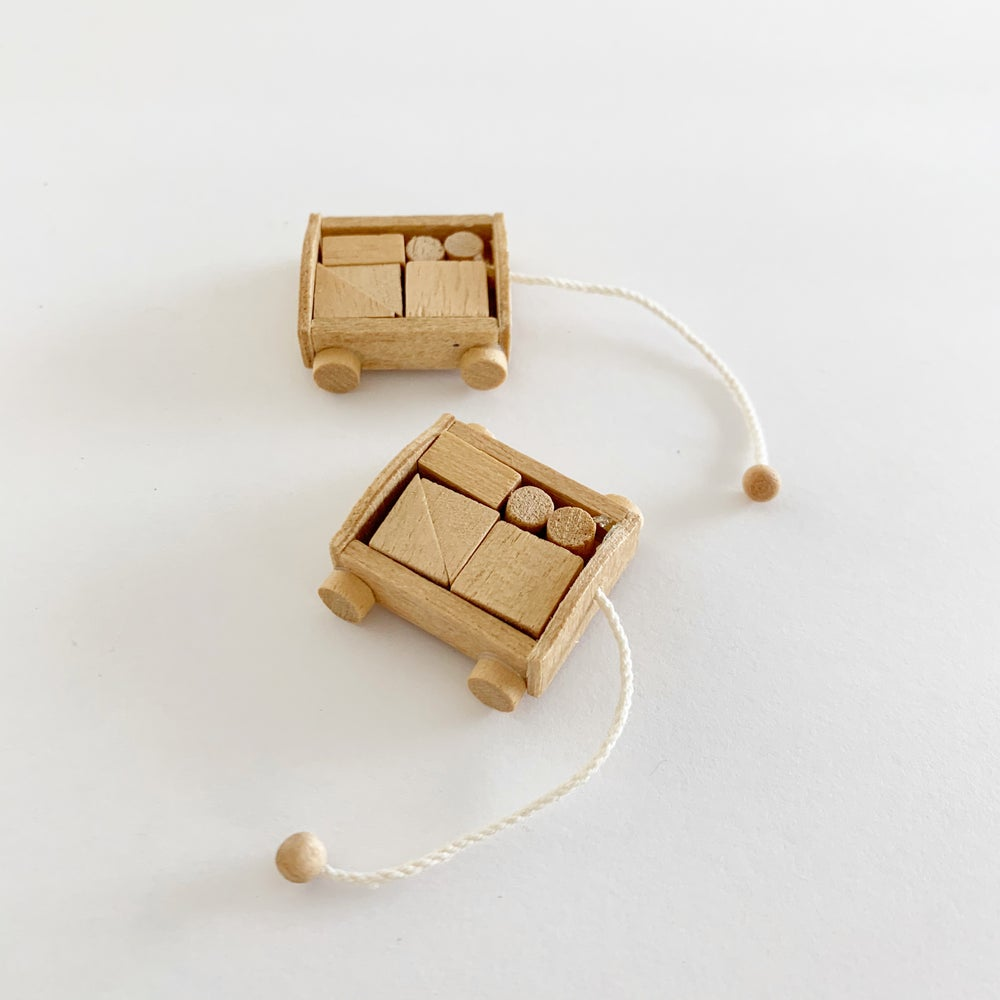 Image of Miniature Blocks Pull Toy