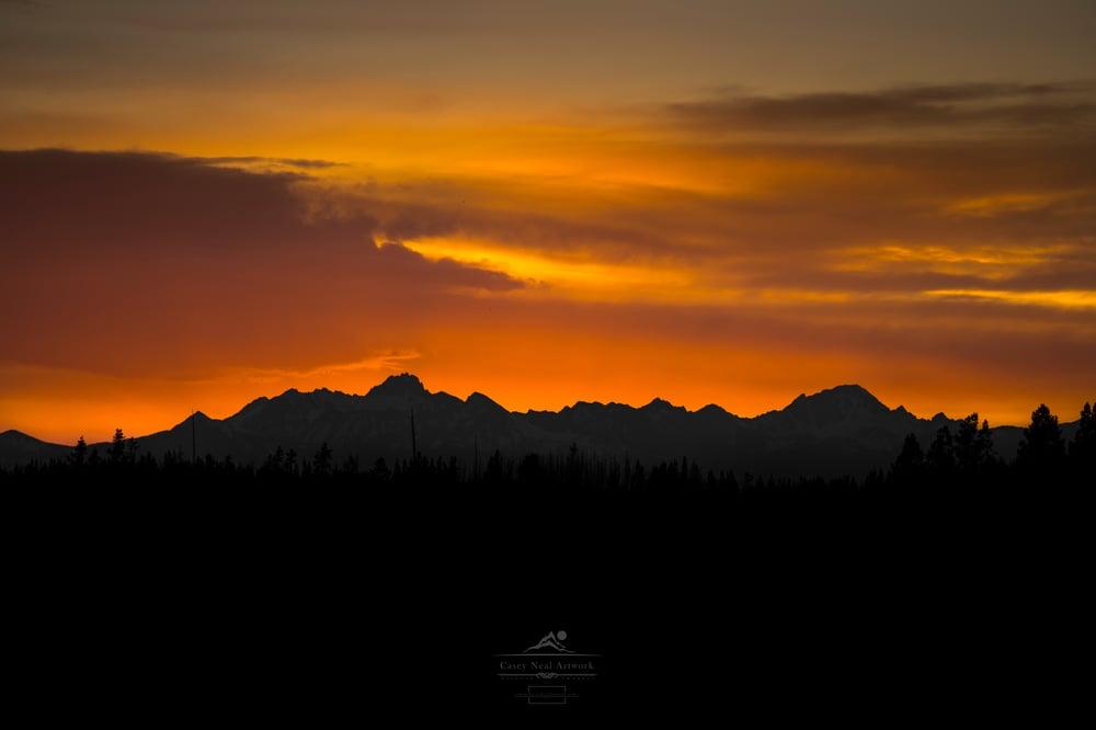 Image of Mountain Sunset