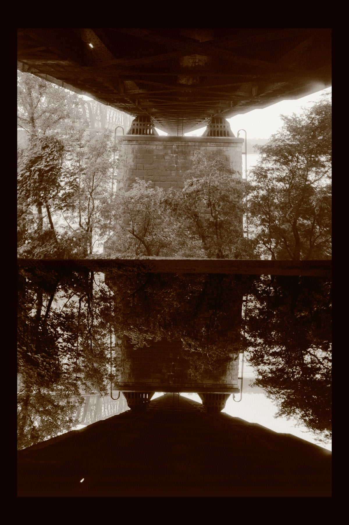 "Harahan Bridge Diptych ""Reflection"""