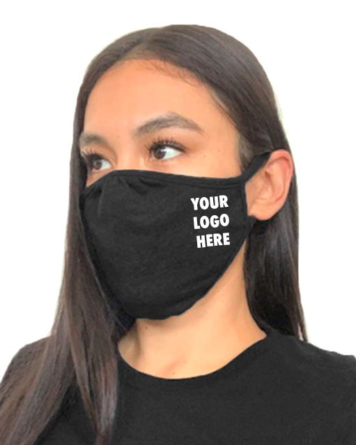 Image of CUSTOM 2-Ply Face Mask w/ YOUR LOGO