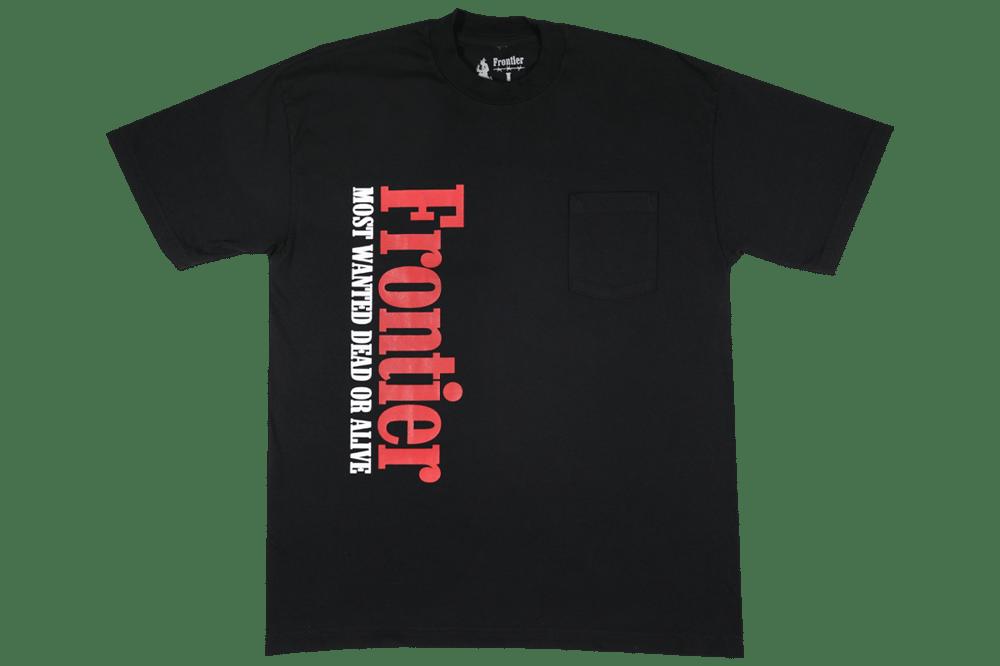 Image of Smokers Pocket T-Shirt Black