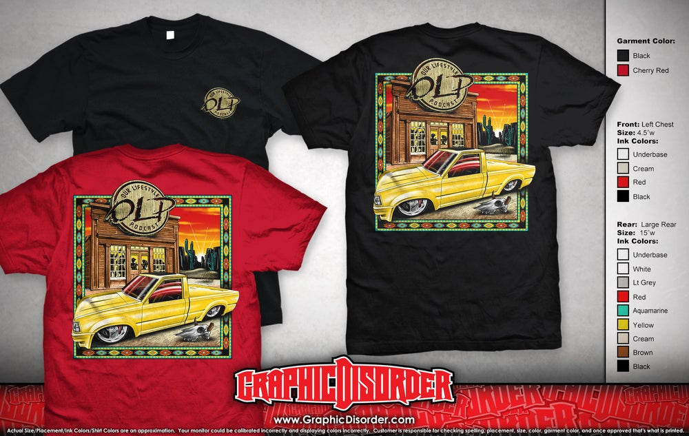 Image of Yellow Mazda T-Shirts (Red or Black)