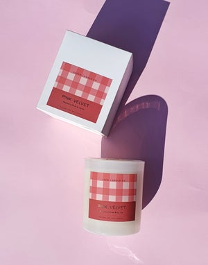 Image of PINK VELVET Candle / Large