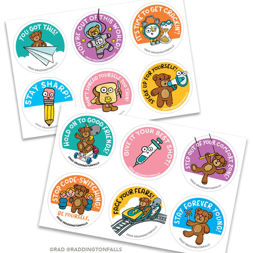Image of Motivational Stickers 12 pack