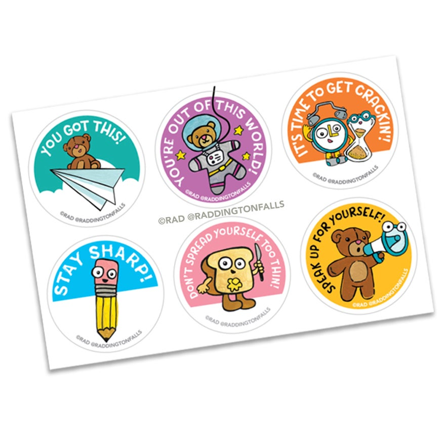 Motivational Stickers 12 pack