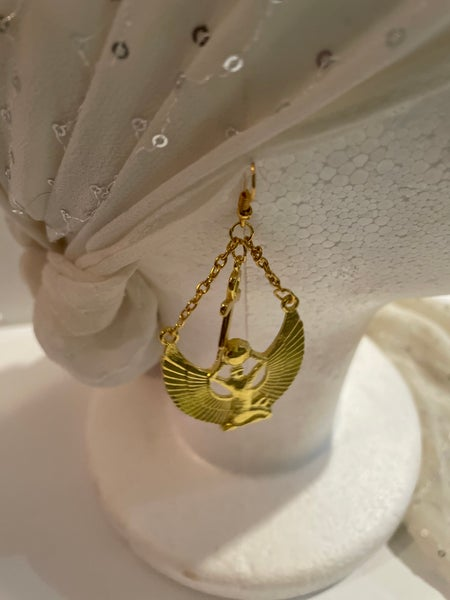 Image of Gold plated Egyptian Ankh earrings