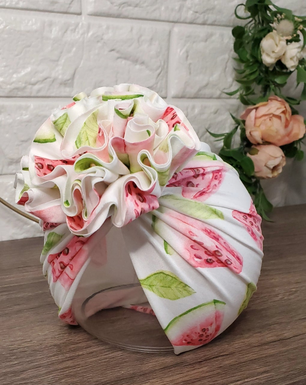 Image of Watermelon blossom turban