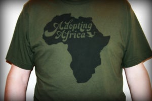 Image of Adopting Africa Mens Tee - Army Green