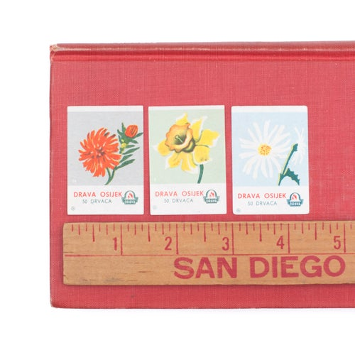 Image of Floral Matchbox Labels - Set of 8