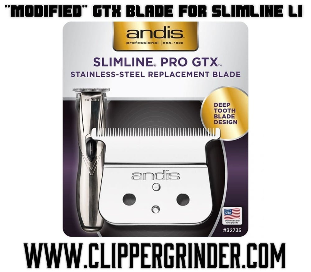 """Image of (3 Week Delivery) """"Modified"""" Andis GTX Blade (Fits Slimline Li Trimmer)"""