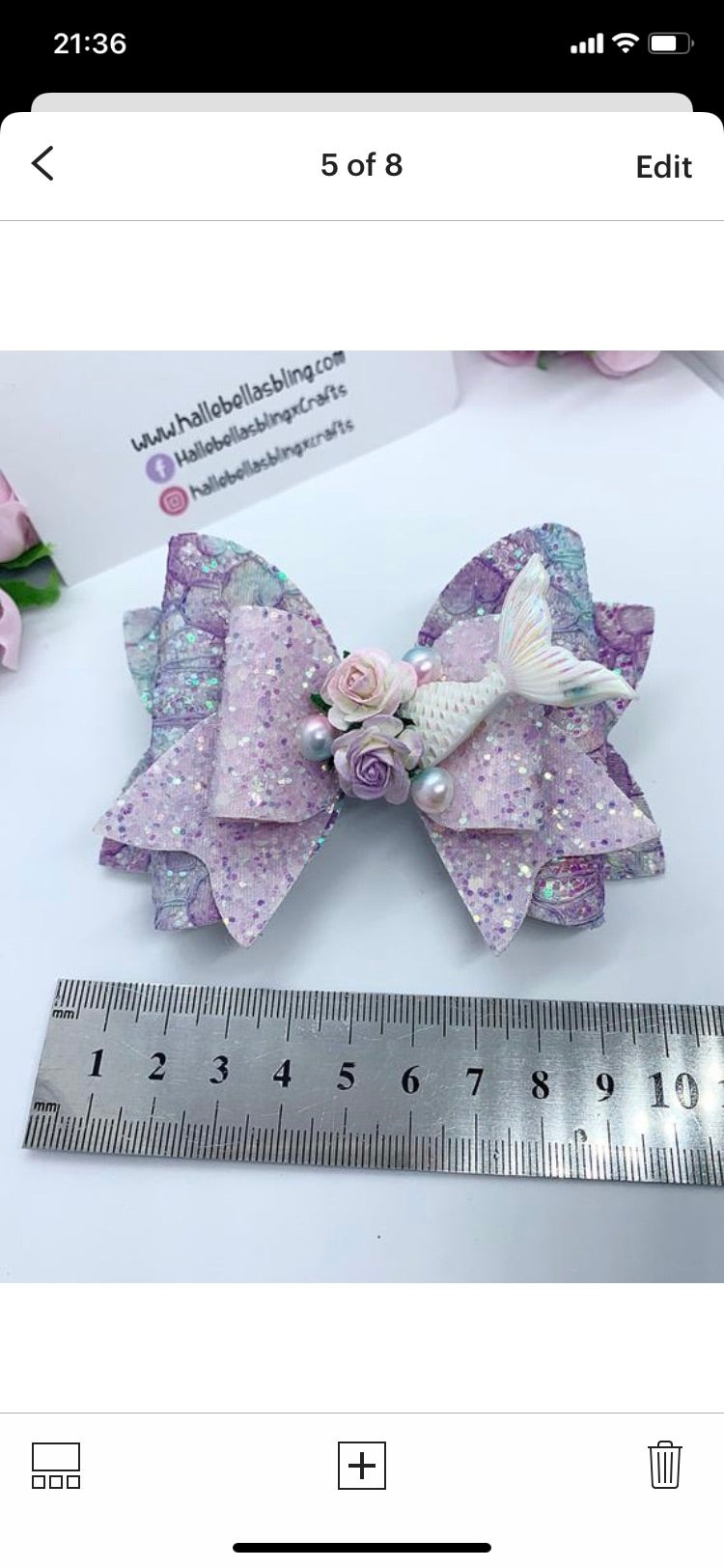 Image of Lilac mermaid tail