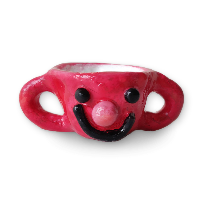 Image of dairysam Red Cup Figurine