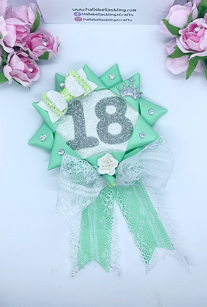 Image of Mint green Birthday Rostette