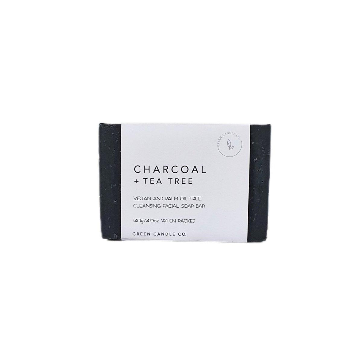 Image of CHARCOAL + TEA TREE  SOAP /  with Hemp Seed Oil