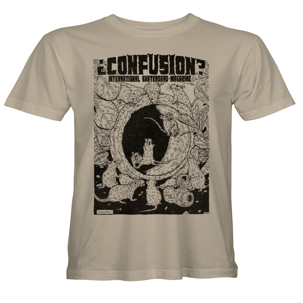 """Image of Confusion - """"Pipe Rats"""" t-shirt  [sand]"""