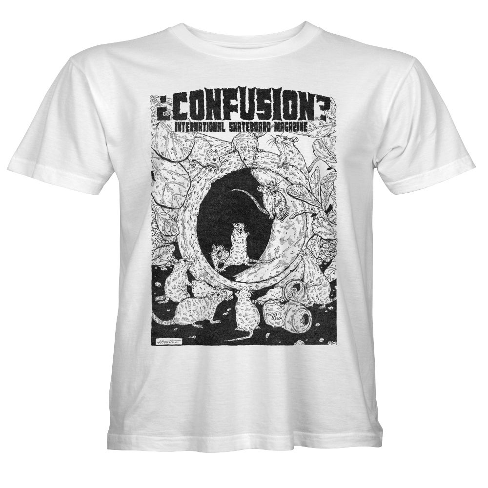 """Image of Confusion - """"Pipe Rats"""" t-shirt  [white]"""