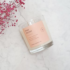 Image of PINK PEONY Candle / Large