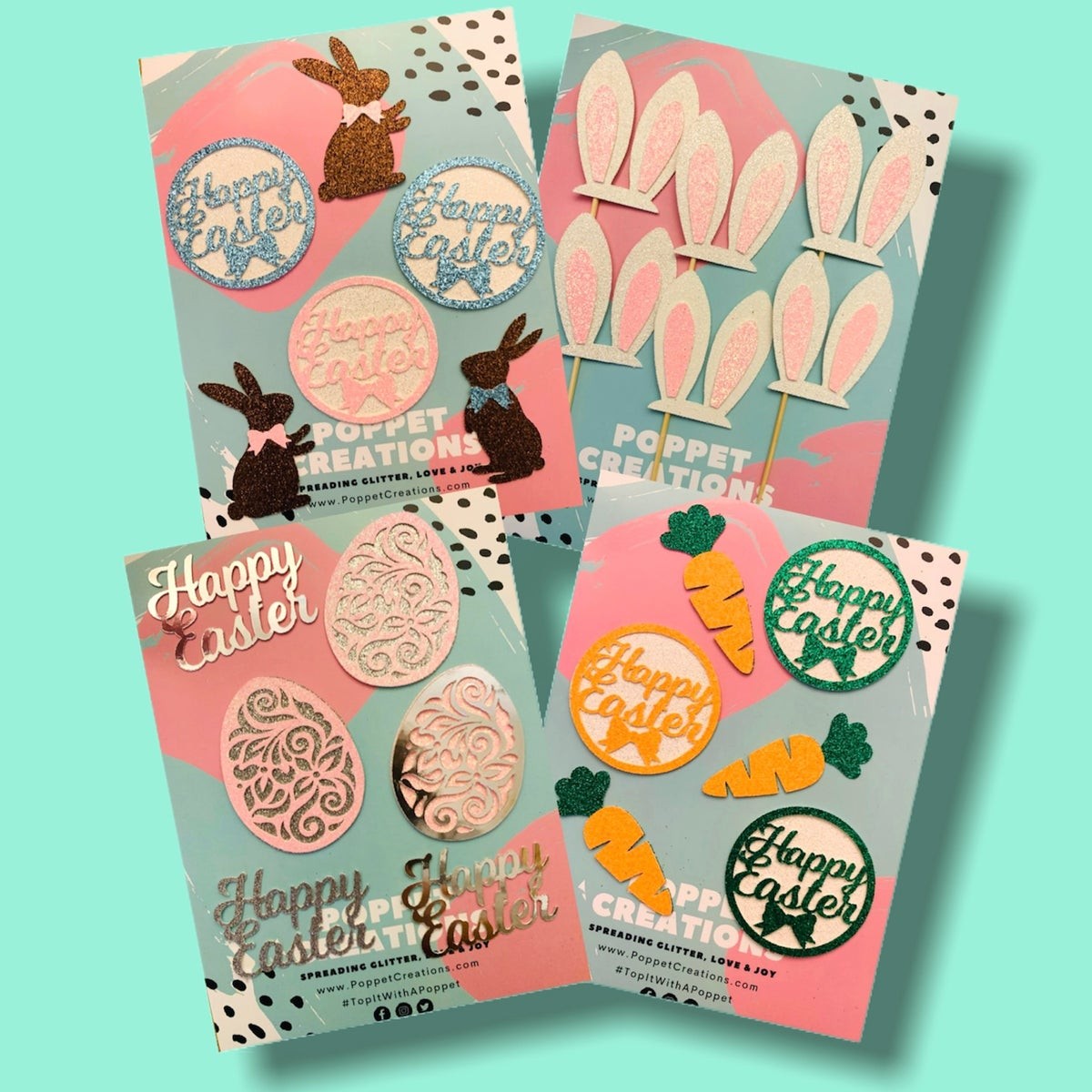 Image of Easter toppers (various designs)