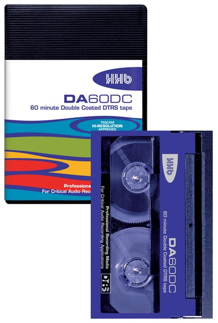 Image of HHB DA60DC 60 Minute Tascam Approved DTRS tape in an Album Case (Single)