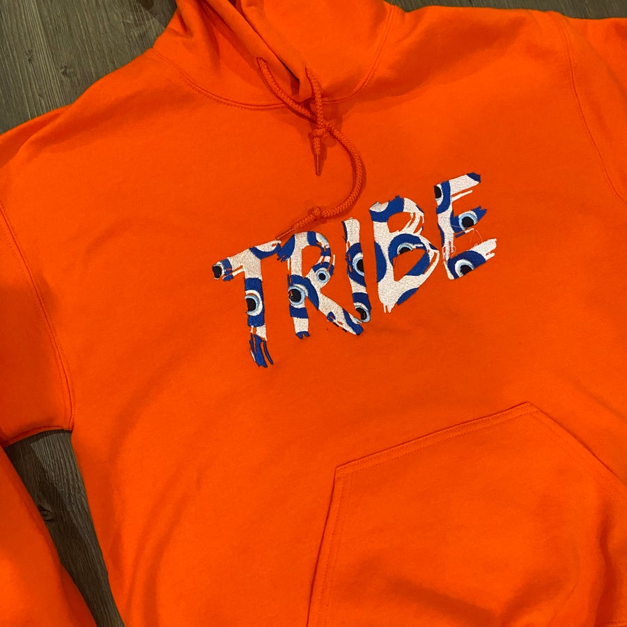 Image of Evil Eye Tribe Embroidery  Hoodie