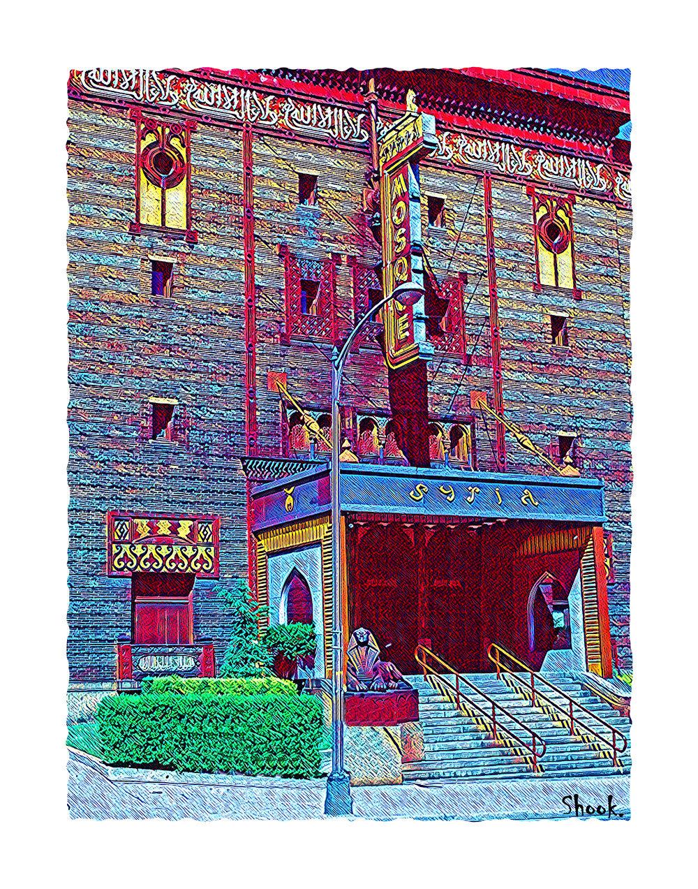 "The Mosque Pittsburgh Giclée Art Print - 11"" x 14"""