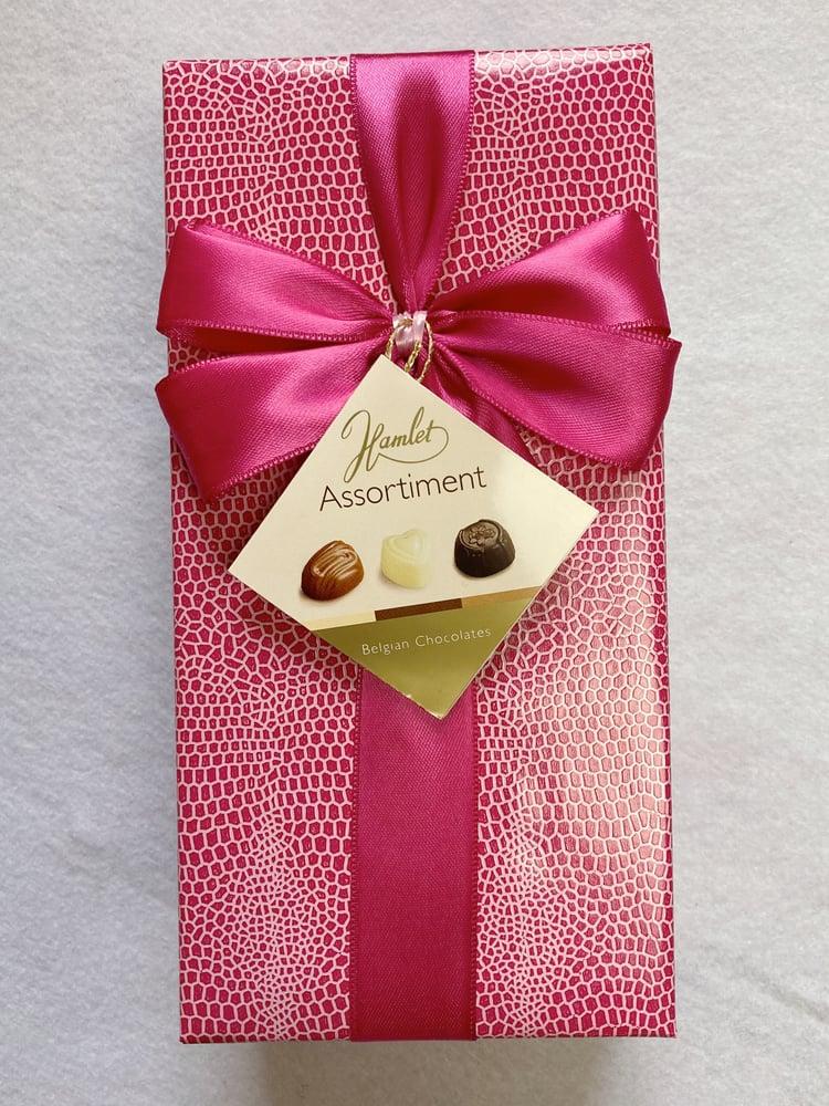 Image of Wrapped Ballotin - Belgian Milk, Dark & White Chocolates