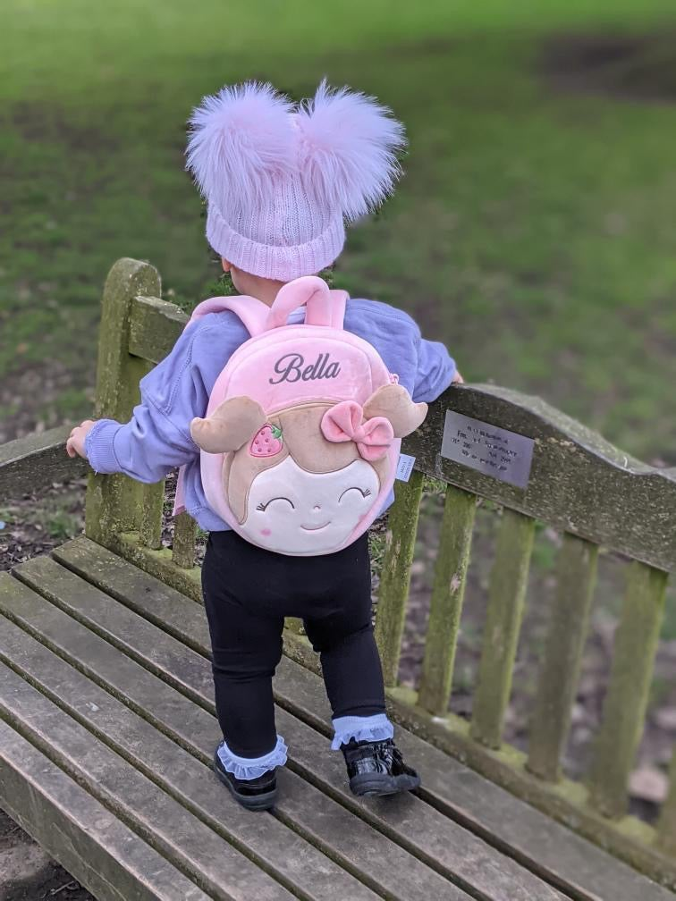 """Image of """"LITTLE MISS STRAWBERRY"""" Backpack - PERSONALISABLE"""