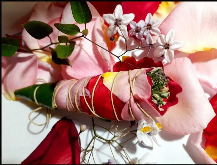 Image of Sage Bouquet wrapped in Roses