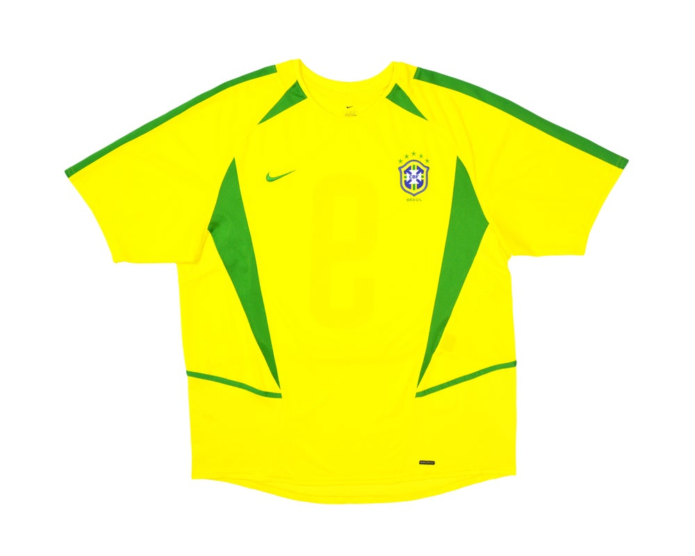 Image of 2002-04 Nike Brazil Home Shirt '9' L
