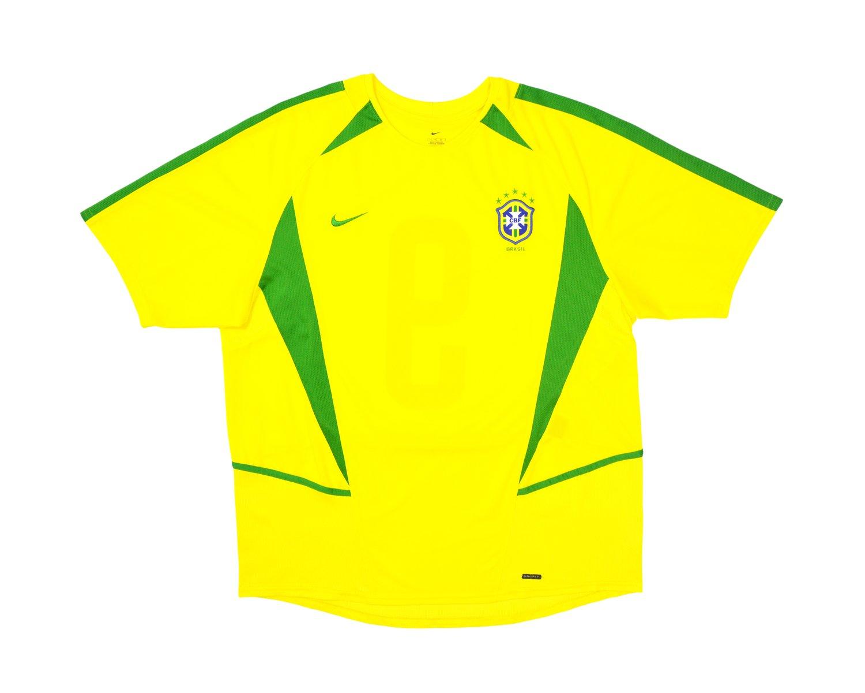 Image of 2002-04 Nike Brazil Home Shirt '9' L