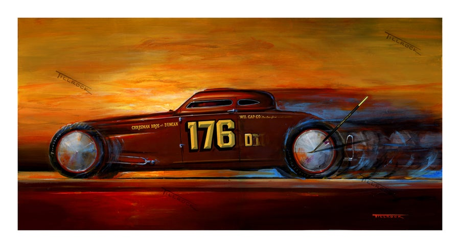 "Image of ""Chrisman Brothers Coupe"" Painting  (14x24) or (22"" x 40"")  Signed & Numbered Giclee' Prints"