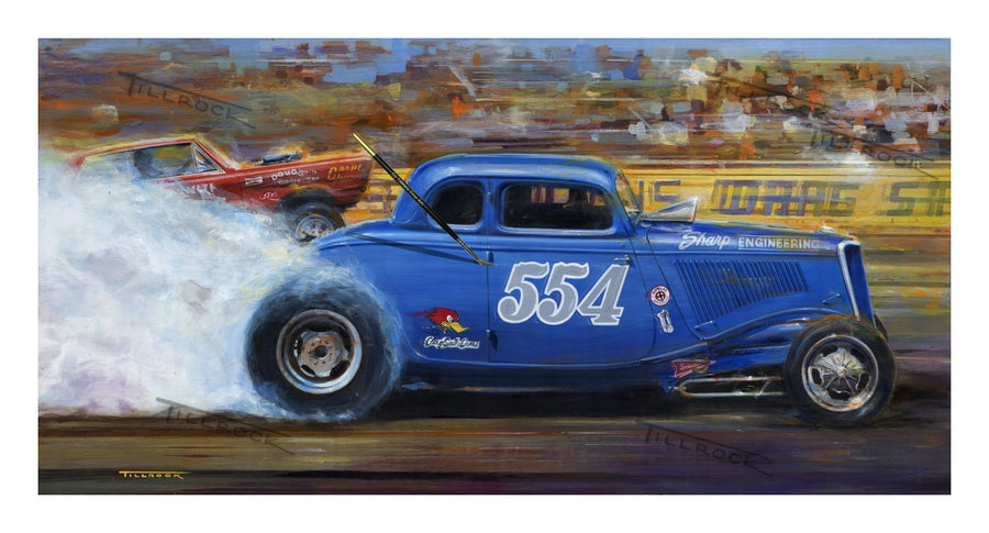 "Image of ""554 Fueled Coupe"" Painting  (14x24) or (22"" x 40"")  Signed & Numbered Giclee' Prints"