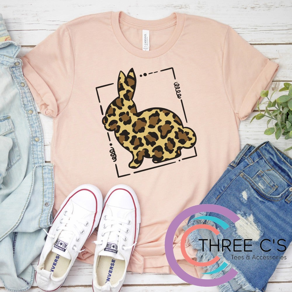 Image of Leopard Bunny Frame Tee