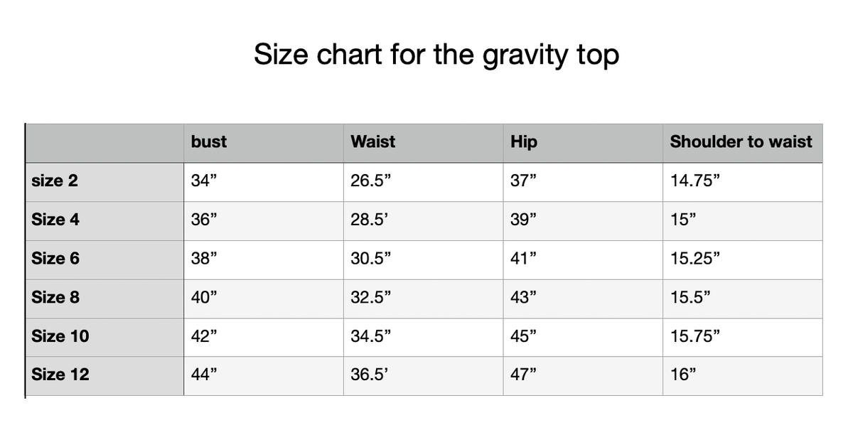 Image of gravity top black