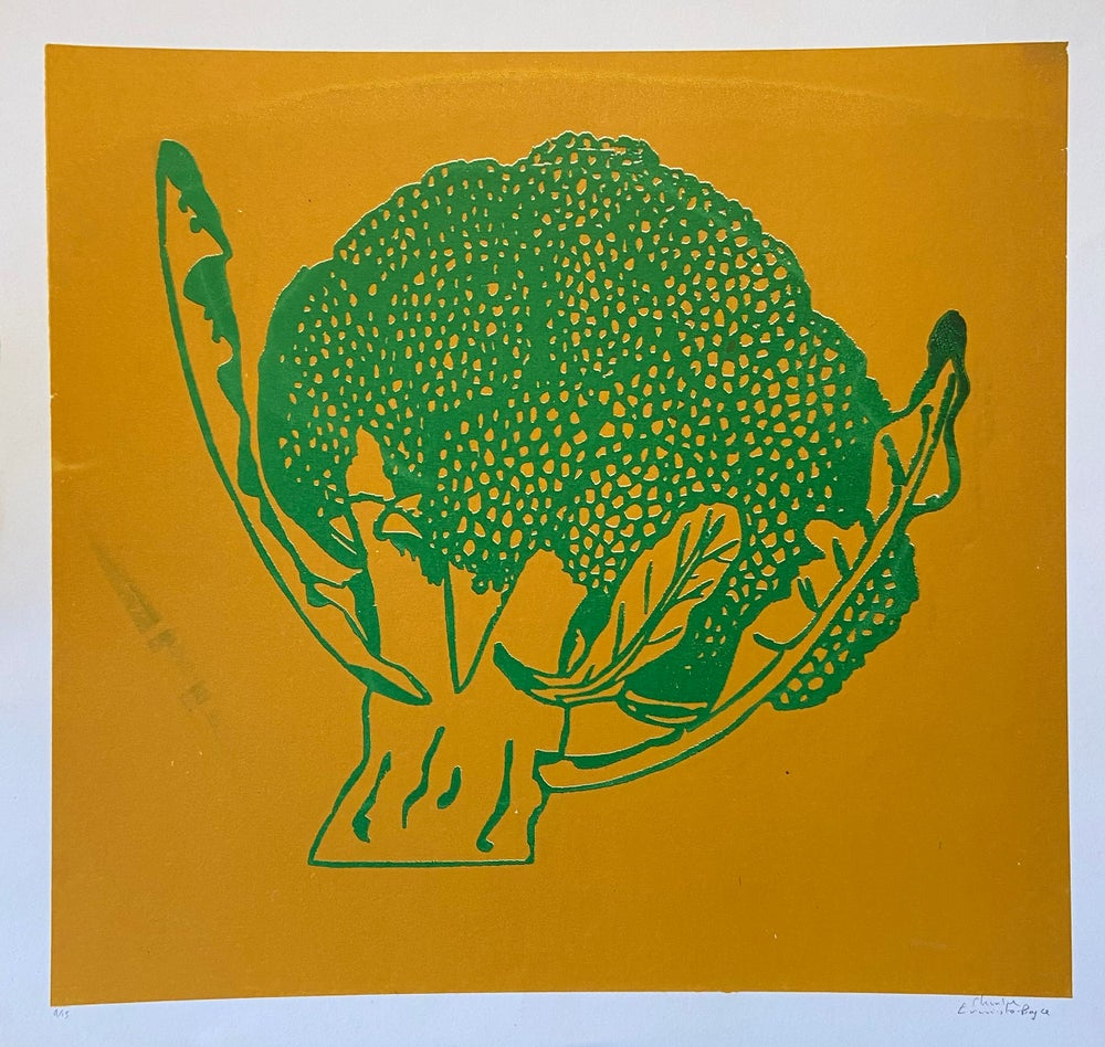 Image of Broccoli print (2015) by Charlie Evaristo-Boyce
